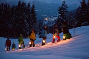 Wandern mit der Petroleumlampe am Kristberg